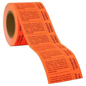 Hazardous Materials Tabs