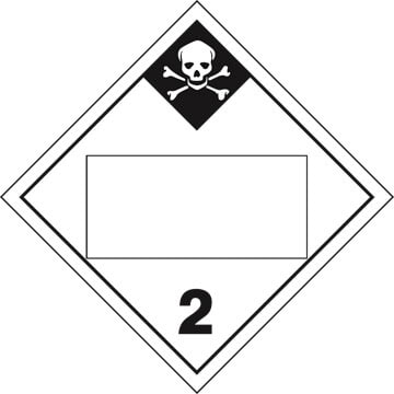 Division 2.3 Inhalation Hazard Placard - Blank
