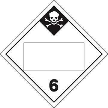 Division 6.1 Inhalation Hazard Placard - Blank