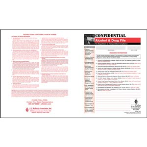 Confidential Alcohol and Controlled Substance File Packet