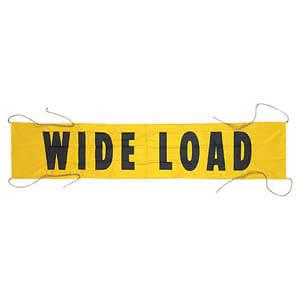 Vinyl Wide Load/Oversize Load Banner w/ Grommets for Ropes