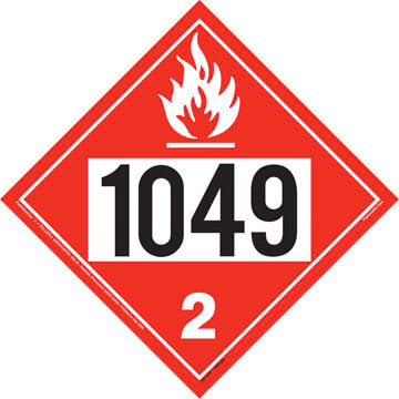 1049 Placard - Division 2.1 Flammable Gas