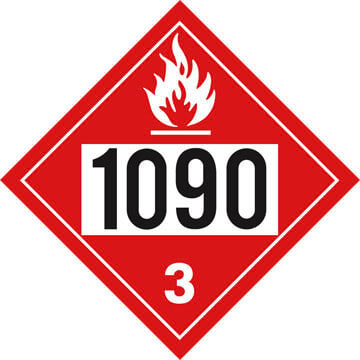 1090 Placard - Class 3 Flammable Liquid