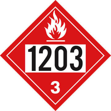 1203 Placard - Class 3 Flammable Liquid