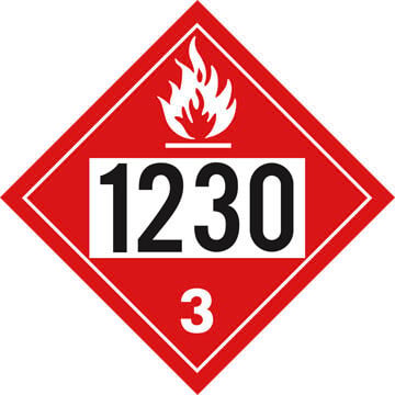 1230 Placard - Class 3 Flammable Liquid