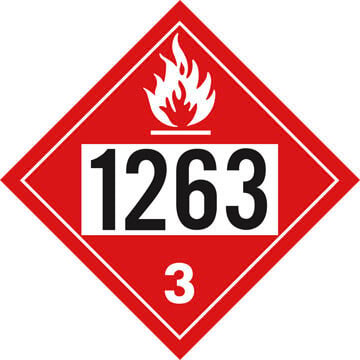 1263 Placard - Class 3 Flammable Liquid