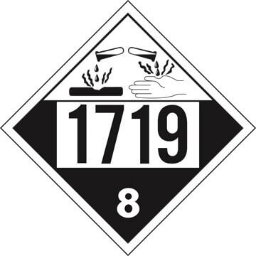 1719 Placard - Class 8 Corrosive