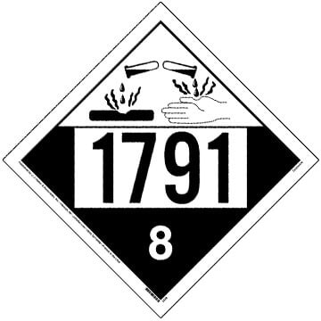 1791 Placard - Class 8 Corrosive