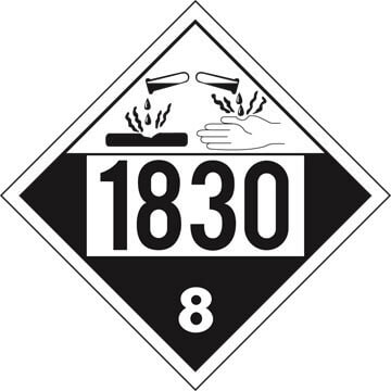 1830 Placard - Class 8 Corrosive