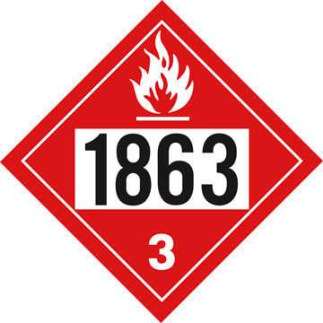 1863 Placard - Class 3 Flammable Liquid