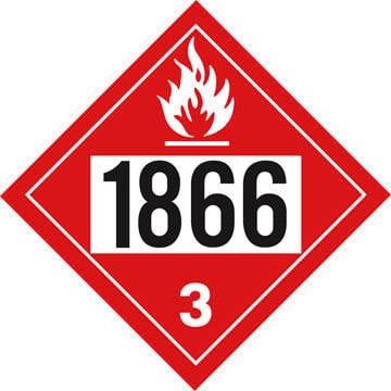 1866 Placard - Class 3 Flammable Liquid