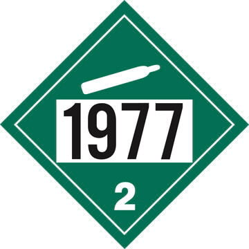 1977 Placard - Division 2.2 Non-Flammable Gas