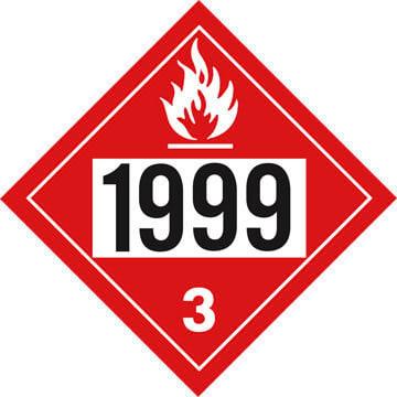 1999 Placard - Class 3 Flammable Liquid