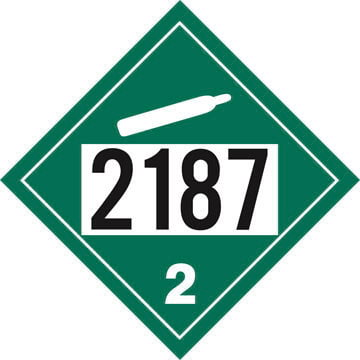 2187 Placard - Division 2.2 Non-Flammable Gas