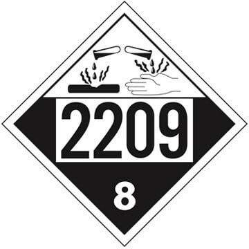 2209 Placard - Class 8 Corrosive