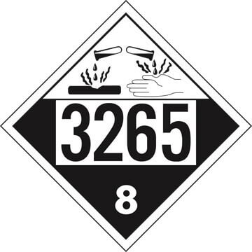 3265 Placard - Class 8 Corrosive
