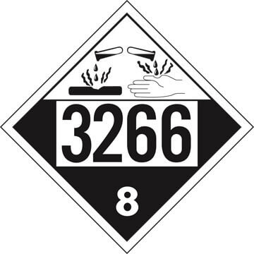 3266 Placard - Class 8 Corrosive