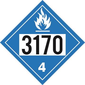 3170 Placard - Division 4.3 Dangerous When Wet