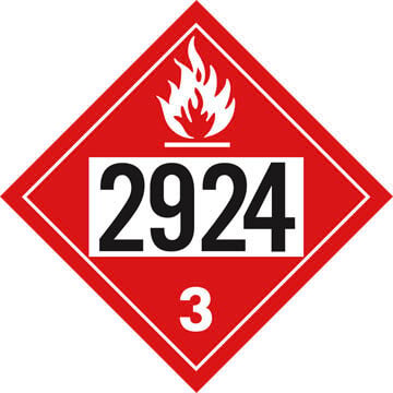 2924 Placard - Class 3 Flammable Liquid