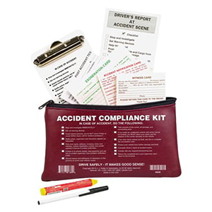 Accident Compliance Kit in Vinyl Pouch - No Camera