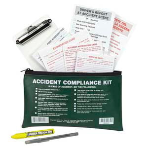 Accident Compliance Kit in Vinyl Pouch - No Camera, Bilingual