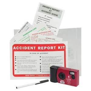 Accident Compliance Kit in Poly Bag w/ Single-Use Digital Camera