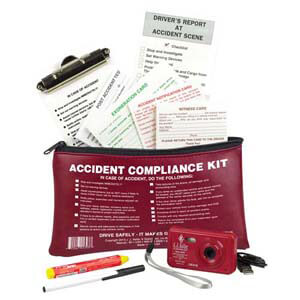 Accident Compliance Kit in Vinyl Pouch w/ Digital Camera