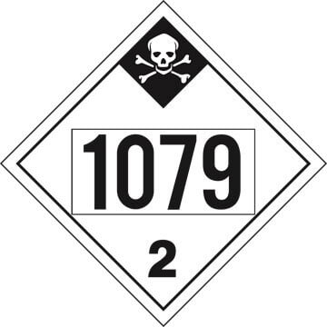 1079 Placard - Division 2.3 Inhalation Hazard