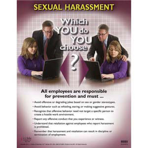 Sexual harassment compliance posters