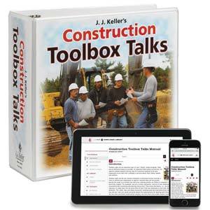 Construction Toolbox Talks Manual