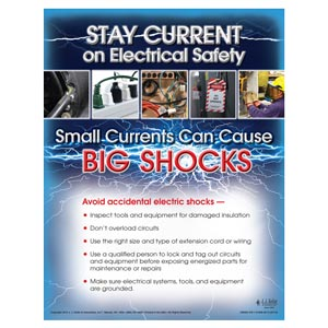 Stay Current On Electrical Safety - Workplace Safety Training Poster