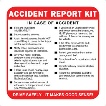Accident Report Kit