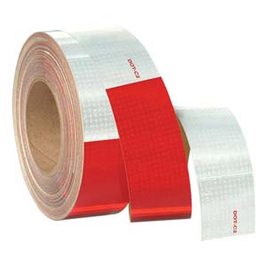 Conspicuity Tape Rolls for Trailers - 11' Red / 7' White, Reflexite