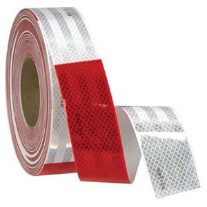 Conspicuity Tape Rolls for Trailers - 11' Red / 7' White, 3M™ Diamond Grade™