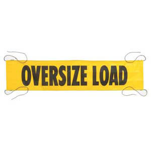Mesh Oversize Load Banner w/ Ropes Sewn In