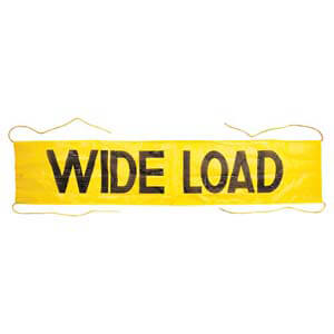 Mesh Wide Load Banner w/ Ropes Sewn In