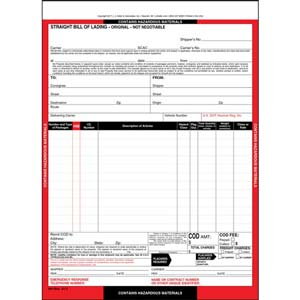 Bills Of Lading Forms