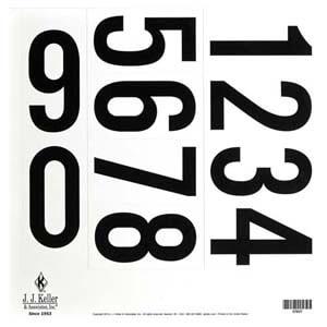 "3.5"" 0-9 Vinyl Number Sheet"