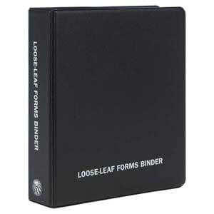 Small Loose-Leaf Forms Binder