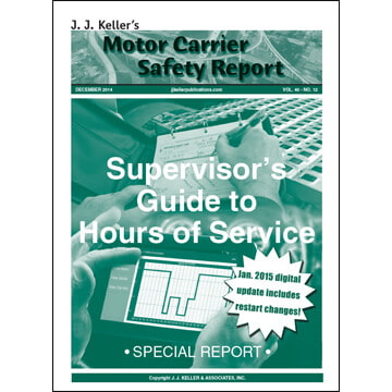 Special Report: Supervisor's Guide to Hours of Service