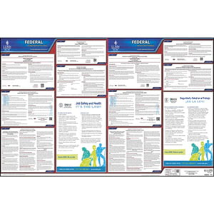 Federal Labor Law Poster with FMLA - Bilingual