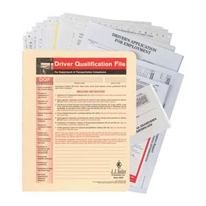 Driver Qualification File Packet (Snap-Out Format)