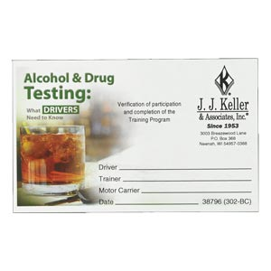 Alcohol & Drug Testing: What Drivers Need to Know - Wallet Cards