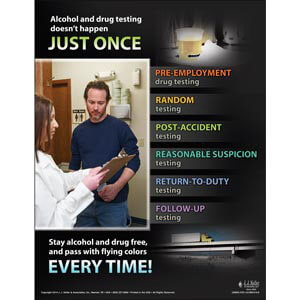 Alcohol & Drug Testing: What Drivers Need to Know - Awareness Poster