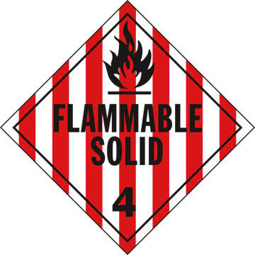 Division 4.1 Flammable Solid Placard - Worded