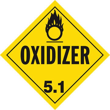 Division 5.1 Oxidizer Placard - Worded