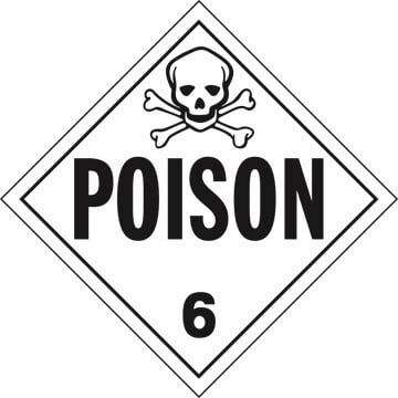 Division 6.1 Poison Placard - Worded