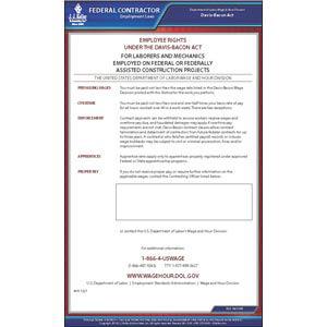 Davis-Bacon Act Federal Contract Poster