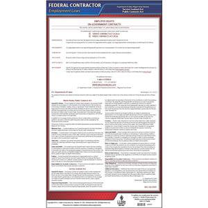 Walsh-Healey, McNamara-O'Hara Federal Contract Poster