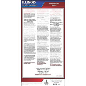 Illinois Employee Classification Act of 2008 Poster